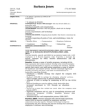 Professional HR Manager Resume