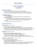 Professional Intelligence Analyst Resume