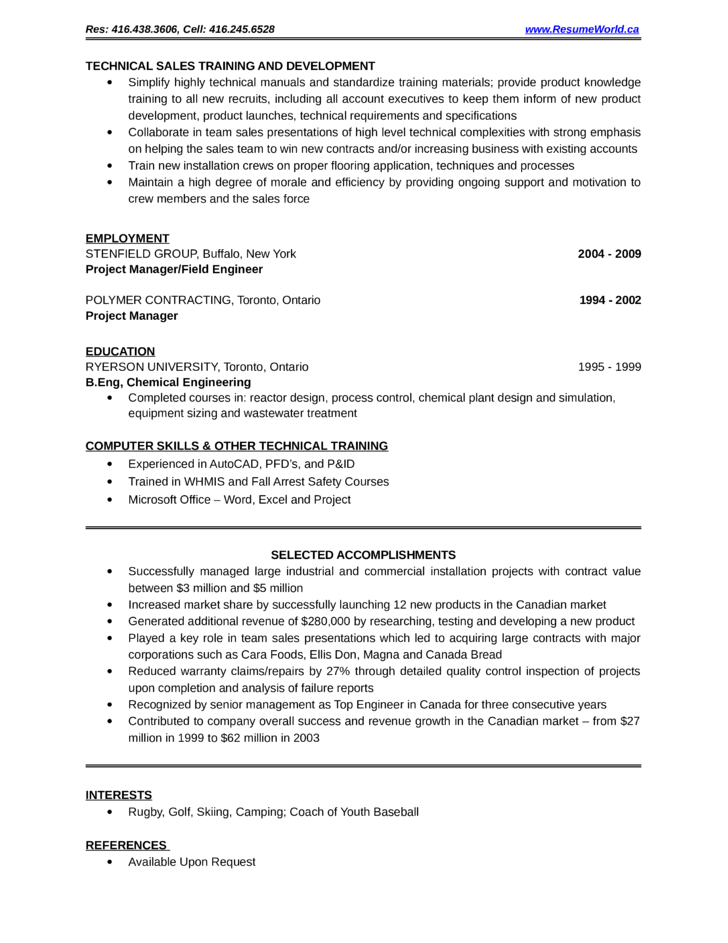 professional it project manager resume template page 2
