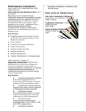 Professional Journeyman Electrician Resume Page2