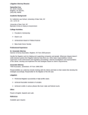 Professional Litigation Attorney Resume Example