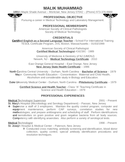 Professional Medical Technologist Resume