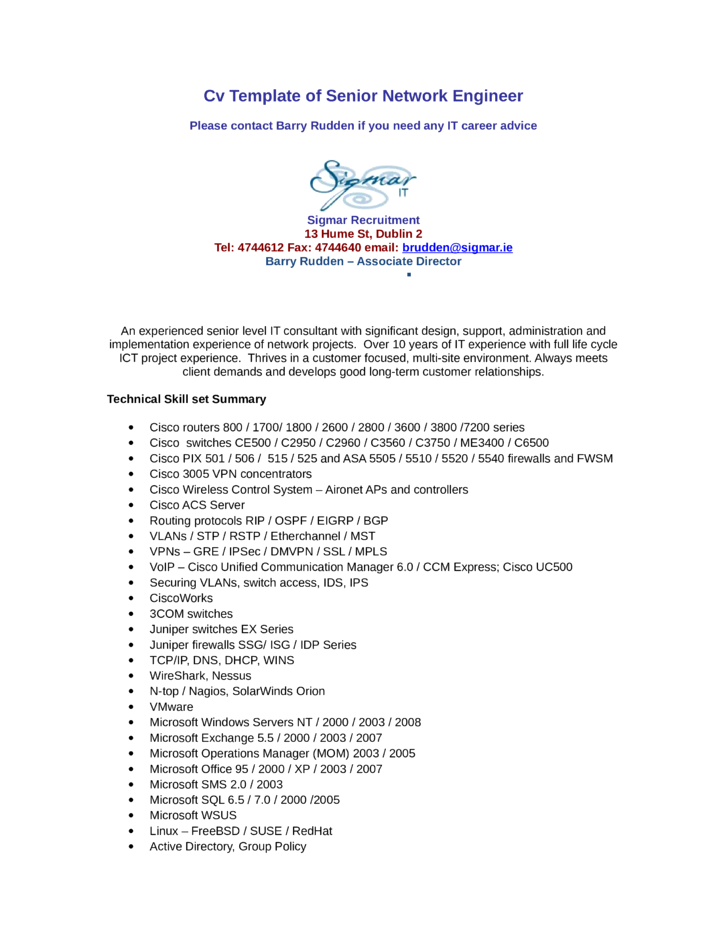 resume network engineer vmware thesistemplate web fc2