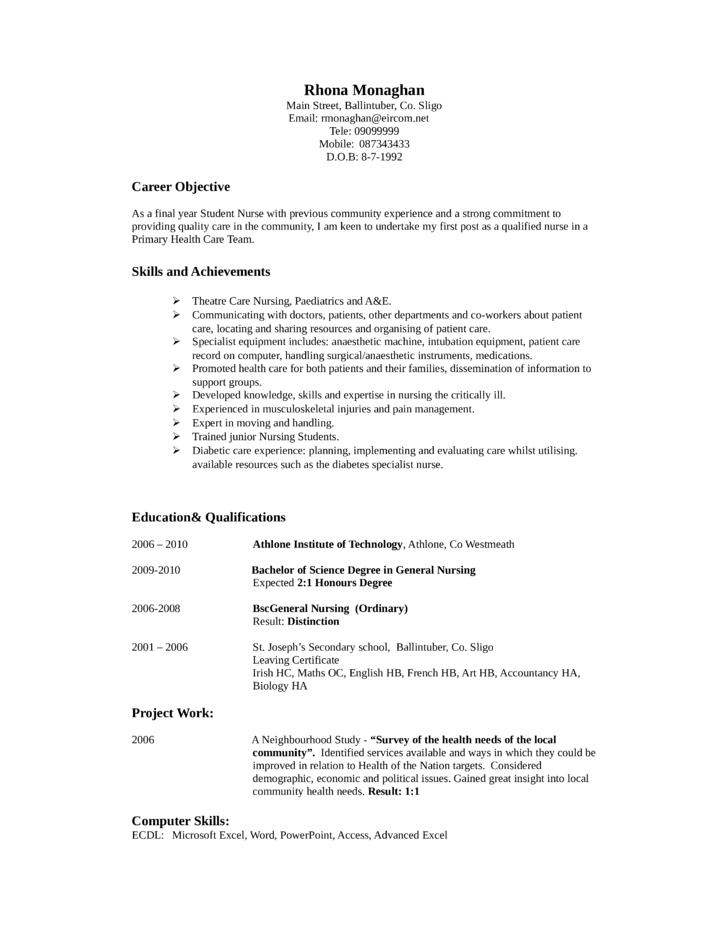 Professional Nurse Assistant Resume Example Template
