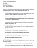 Professional Operations Manager Resume Example