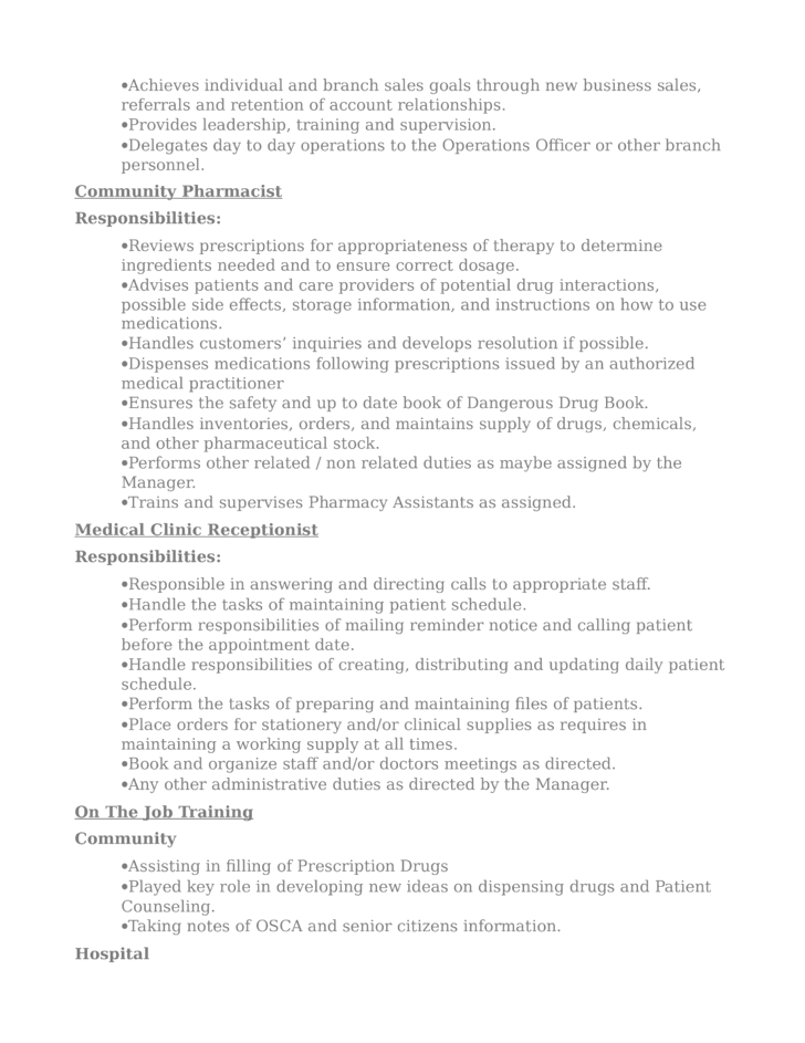 Professional Pharmacist Resume Template Page 3