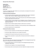Professional Police Officer Resume