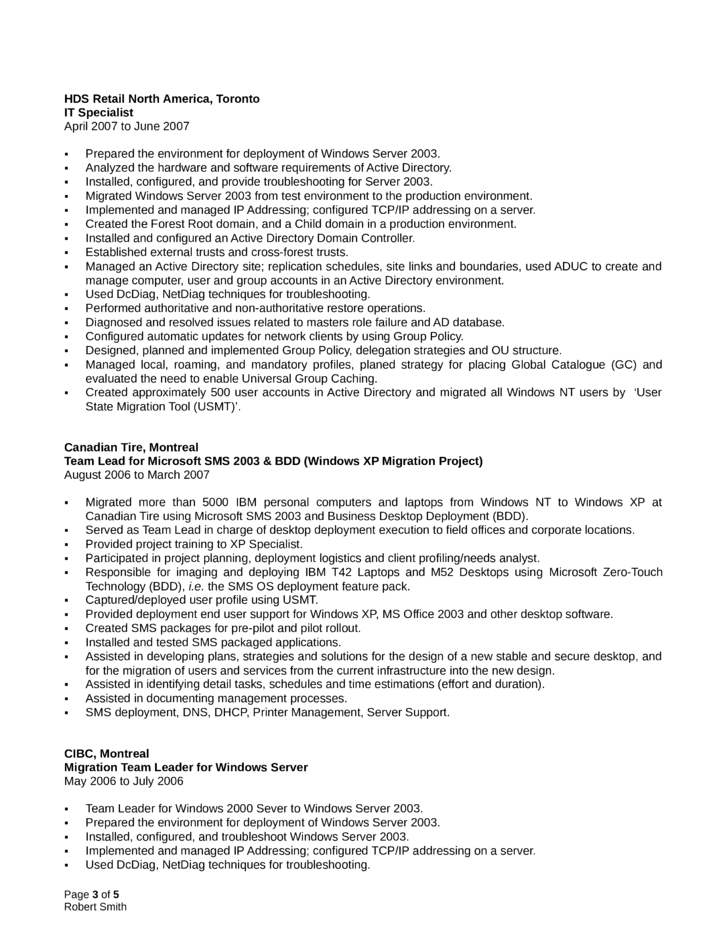 Professional System Administrator Resume Template Page 3