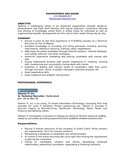 Professional Technical Recruiter Resume