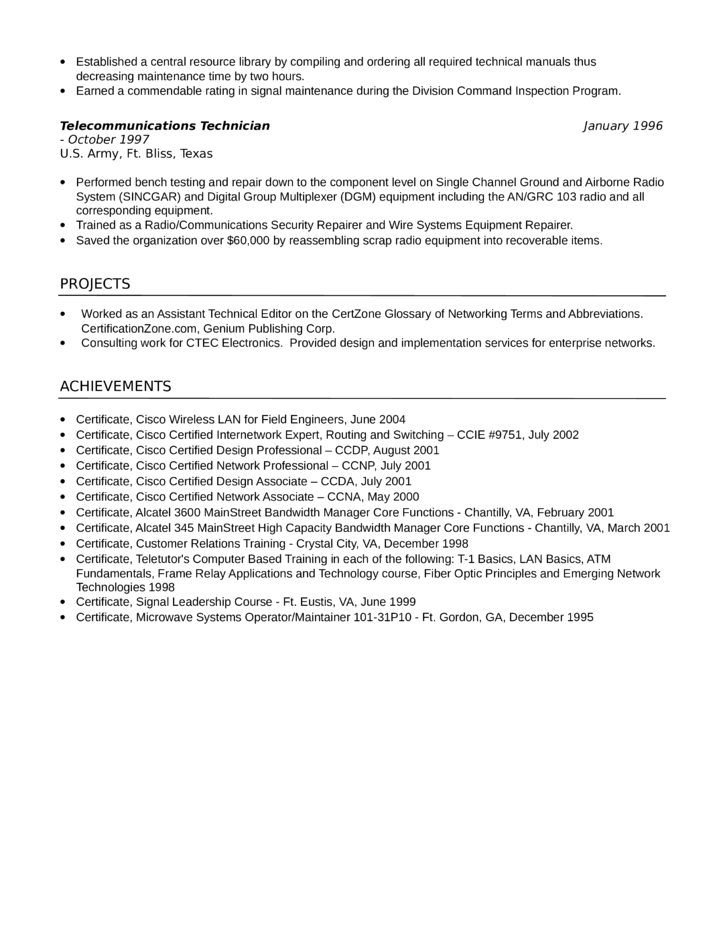 Great Sample Resume Sle Resumes Telecommunications Technician Cover Letter Home  Design Decor Home Interior And Exterior