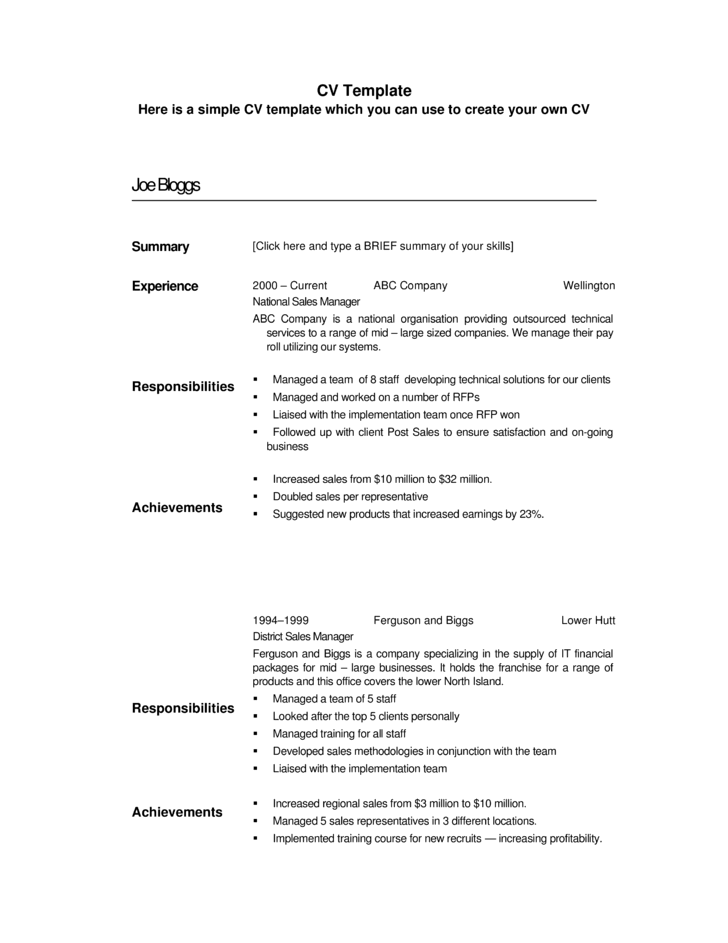 professional territory sales manager resume template