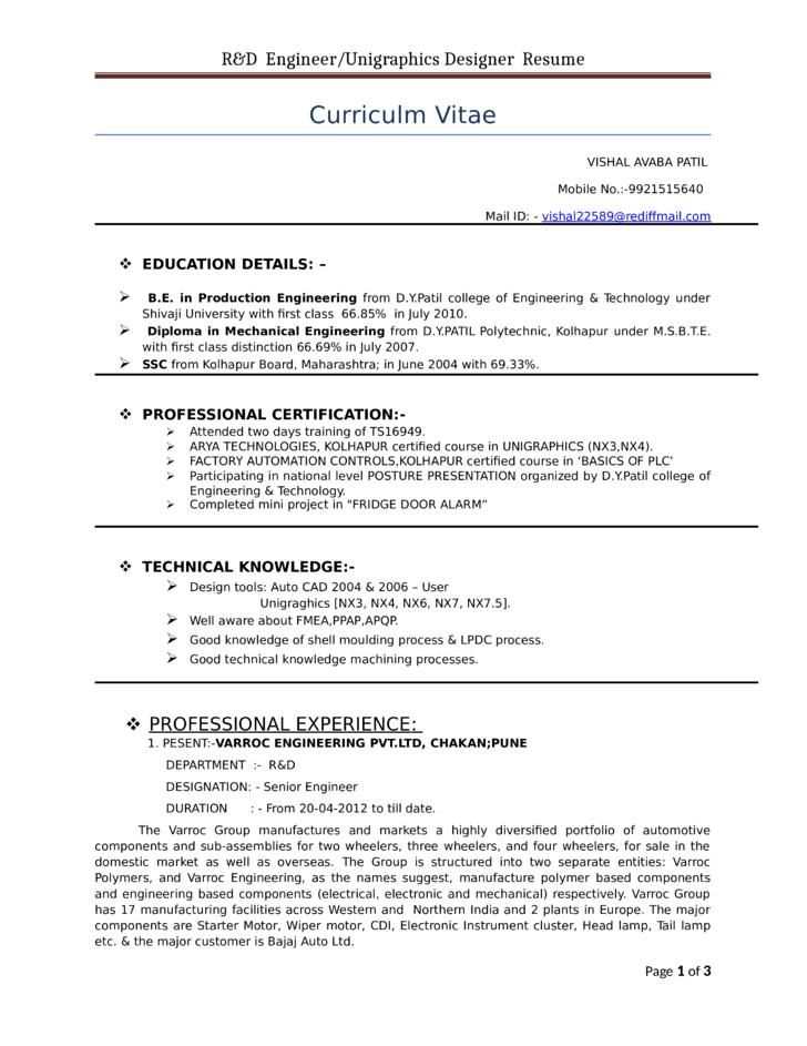 professional unigraphics designer resume template