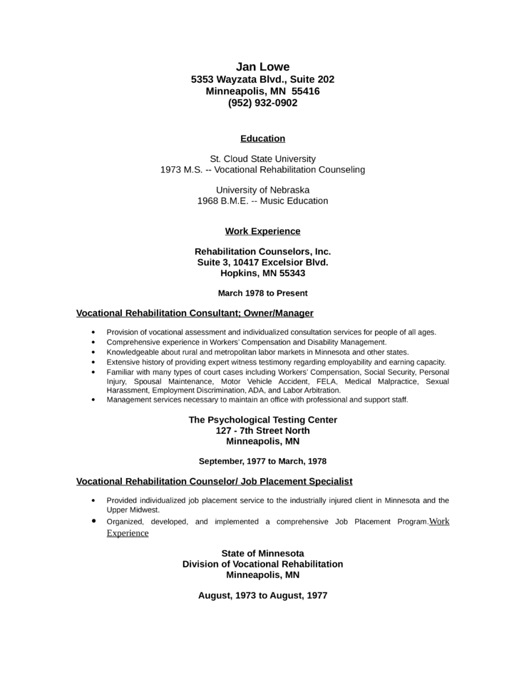 education counselor resume sle