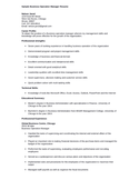 Simple Business Manager Resume