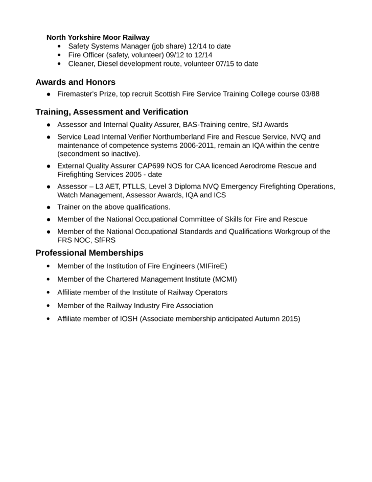 simple firefighter resume example template page 2
