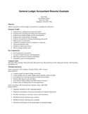Simple General Ledger Accountant Resume