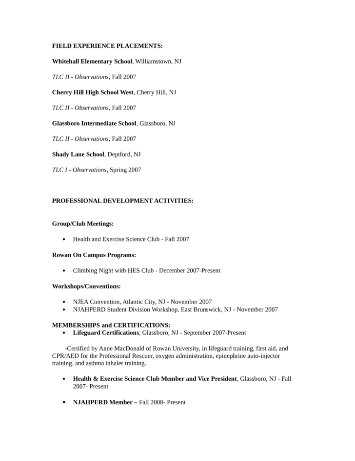 Simple Lifeguard Resume Template | page 2