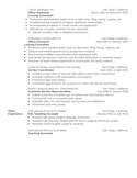 Simple Lot Attendant Resume