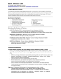 Simple Professional Medical Assistant Resume