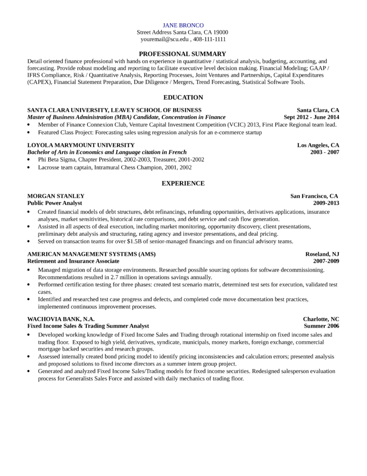 simple quantitative research analyst resume template