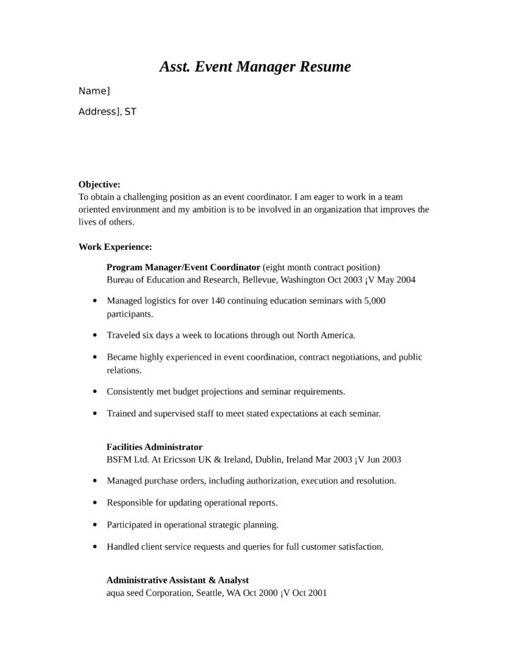 Cover Letter Example For An Event Planner To Help You Get An My Perfect Cover  Letter