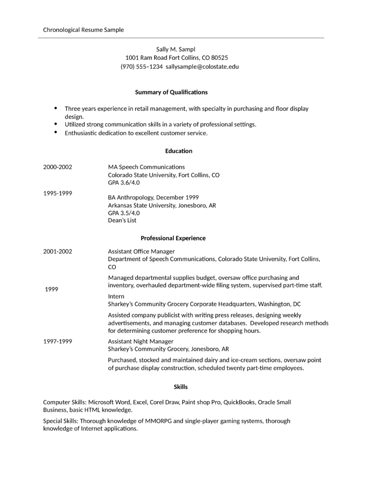 simple store manager resume example 13