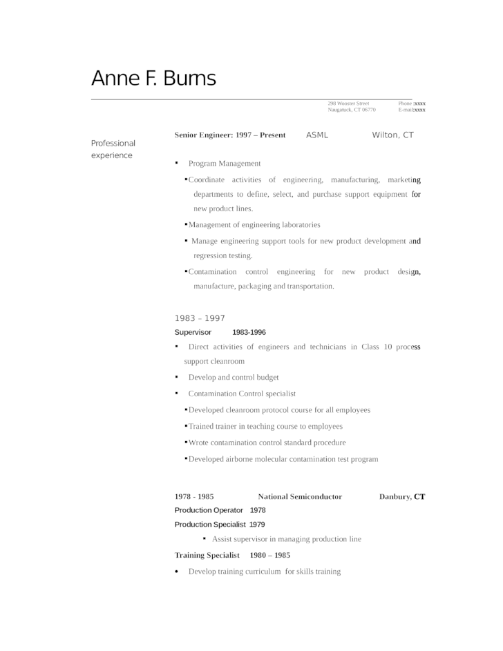 Sample Resume Simple Training Specialist Template