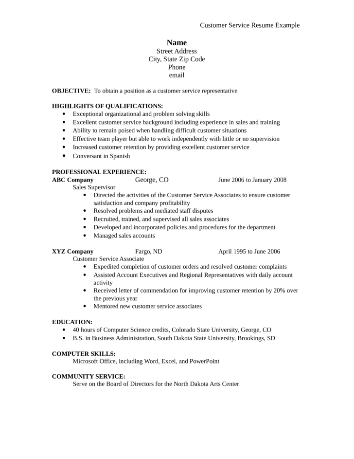 sample resume for sales associate and customer service - tabular sales associate resume template